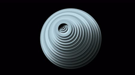 passages : Abstract circle ring rounds 3d machine tunnel cave hole,3d toy paper ripples cards wave space background. Stock Footage