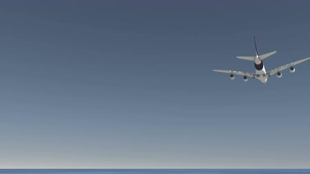 volno : airplane take off,flying over head,blue sky background.