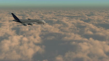 jato : airplane flying above clouds,hight altitude space.