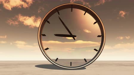 time machine : clock in timelapse & fast flying cloud background,watch in time at dusk.