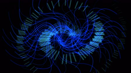 mistério : Blue swirl gear laser lights,energy tech background,radiation science technology,mystery pulse fans wind backdrop. Vídeos