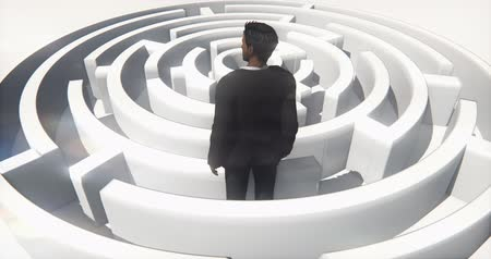 perdido : a businessman standing in the maze.