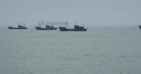 lavagem : many boat floating in the sea,wide ocean waves surface.