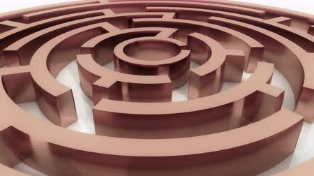 gidermek : rotating copper metal maze,abstract business & tech background.