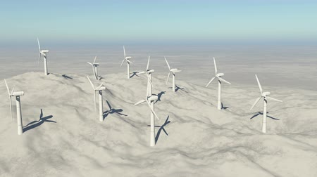 solarium : Aerial view of Windmill Turbines Clean on the mountain,Green Wind Energy,new power.