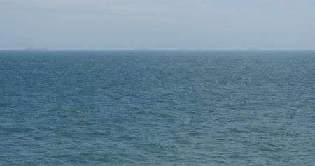 beach panorama : wide ocean surface.