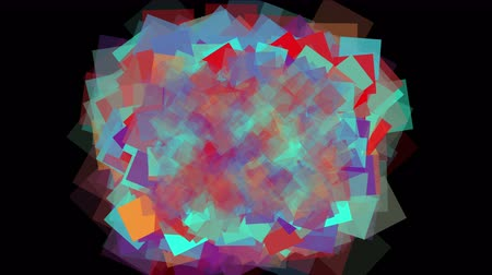 lasca : Square fragment mosaic paper debris background,abstract rectangular particle art.