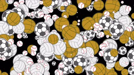 equipamentos esportivos : Sports balls basketball football softball volleyball tennis play game background.