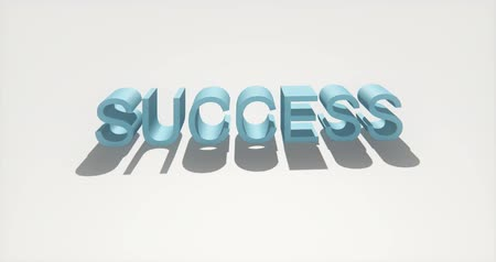 motivar : 4k 3d success sign.