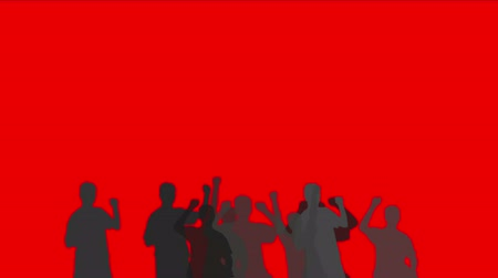 танцоры : Cheering crowd group people men humans  procession,dance concert rallies festivals celebrate celebration silhouette background.