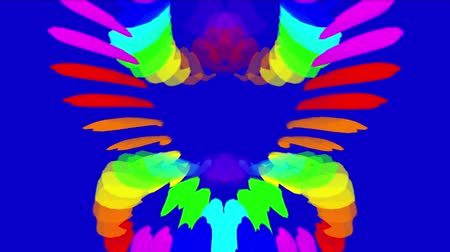 неон : Abstract colored Indian rainbow feathers background,neon print spectrum,energy background,lotus pattern backdrop.