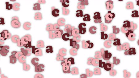 programmers : Alphabet abc cartoon letters character words,childrens education learning language data information passwords particle background. Stock Footage