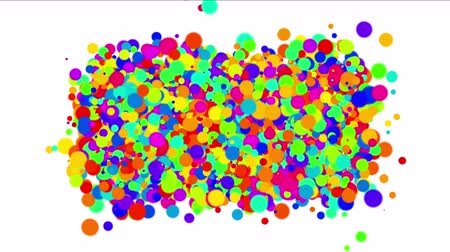 caos : 4k Abstract colorful circles,bubbles blister array background,dancing dots fireworks particles,chaos debris chemical foam.