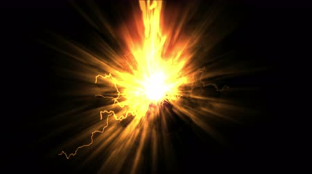 ionizing : 4k Explosion fire energy,laser rays light particle fireworks lightning,power ionizing radiation magic stars background. Stock Footage