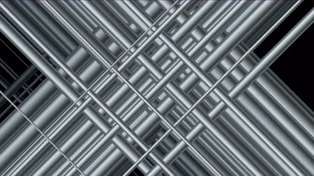 defesa : 4k Abstract 3d steel iron silver metal pipe sticks background,woven mesh grid network,metallurgy fractal pattern backdrop.