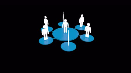 recursos : 4k human icons,business teamwork,Social or Business Network,a group of people in a social group,black background.