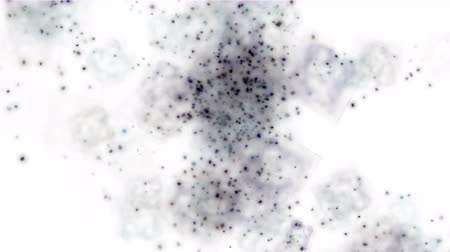 pólen : 4k flying black shine particle & dots light in space,vj background. Stock Footage