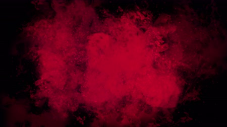 de sangue puro : 4k Explosion blood magma energy,Abstract Clouds mist splash smoke,fire space gas steam fireworks particles background.