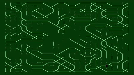 integrator : 4k a futuristic circuit board with moving electrons,electronic connections,communication,futuristic technology.