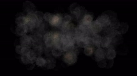 emitter : 4k Explosion smoke fume particles battle background.