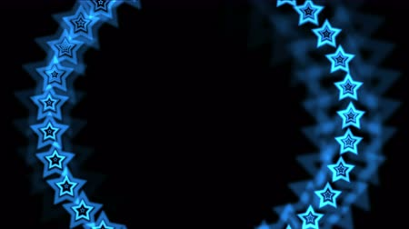 irradiar : 4k blue stars made up of aura hole tunnel,abstract vj background.