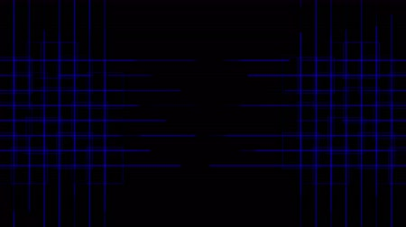 irradiar : 4k Abstract tech power lines grid,virtual computer electric circuit background.