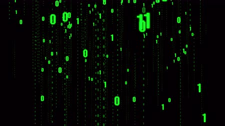 data transmission : 4k The Matrix style binary code,falling number,Seamless loop.future tech background.data digital display,future tech background. Stock Footage