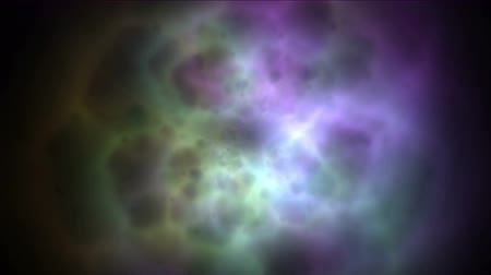 duch : 4k Abstract nebula galaxy energy magnetic pulse in fireworks particles space.