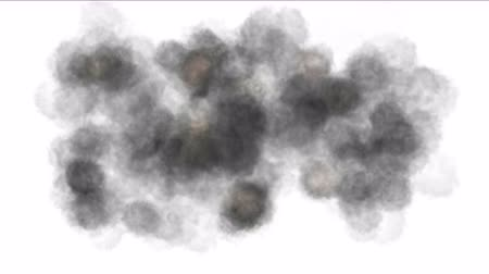 radioaktivní : 4k Explosion smoke fume particles battle background.