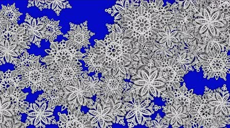 sobreposição : 4k Snowflake chrismas flower design pattern background.