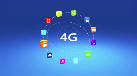 on site research : 4k 4G symbol,virtual internet concept,social media,e-mail,e-shop,cloud computing,music,smartphone,chart,lock.