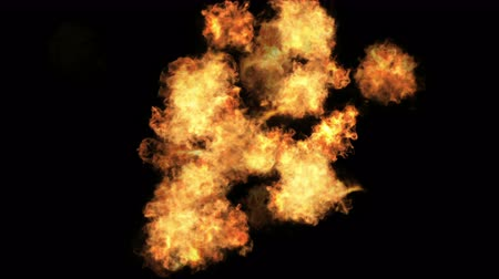 zapalovač : 4k Hot fire burning background,Abstract powerful explosion particle smoke power firework energy.