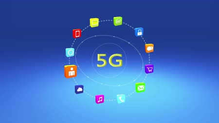 on site research : 4k,5G symbol,virtual internet concept,on-line services gadgets icons-discussion,social media,e-mail,e-shop,cloud computing,music,smartphone,chart,lock.