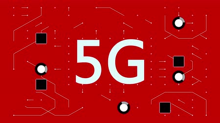 integrator : 4k 5G symbol,a futuristic circuit board with moving electrons,electronic connections,communication,futuristic technology.
