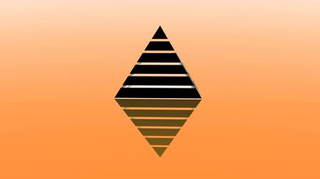hierarchy : 4k Pyramid triangle geometry design Ethereum element abstract ether object mystery background.