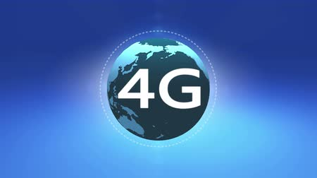 jel : 4k 4G symbol with rotateing earth,web tech background.