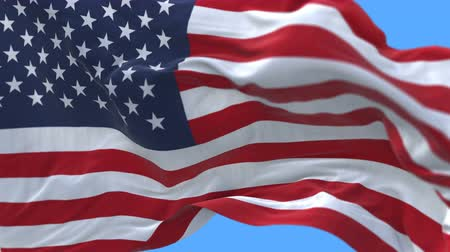 yumuşaklık : seamless American Flag Slow Waving with visible wrinkles.Close up of UNITED STATES flag.usa,A fully digital rendering,The animation loops at 20 seconds.flag 3D animation with alpha channel included.
