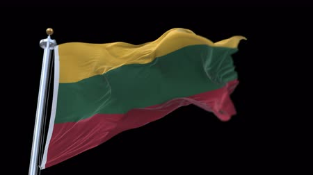 lietuvos : 4k seamless Lithuania flag waving in wind.A fully digital rendering,The animation loops at 20 seconds.flag 3D animation with alpha channel included.