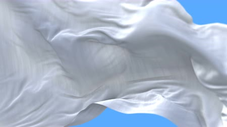уходить в отставку : 4k seamless Close up of Blank plain white flag slow waving with visible wrinkles.A fully digital rendering,The animation loops at 20 seconds.flag 3D animation with alpha channel included.