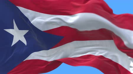 associated : 4k seamless Close up of Puerto Rico flag slow waving with visible wrinkles.A fully digital rendering,The animation loops at 20 seconds.flag 3D animation with alpha channel included.