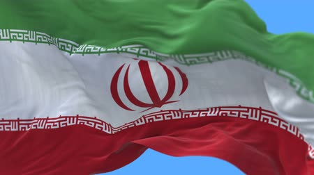 hajózik : 4k seamless Close up of iran flag slow waving with visible wrinkles.A fully digital rendering,The animation loops at 20 seconds.flag 3D animation with alpha channel included.