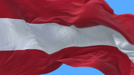 üç renkli : 4k seamless Close up of Austria flag slow waving with visible wrinkles.A fully digital rendering,The animation loops at 20 seconds.flag 3D animation with alpha channel included.