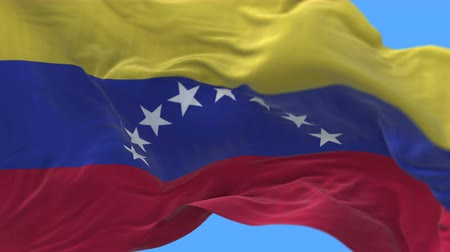 ensign : 4k Close up of Venezuela flag waving in wind.A fully digital rendering,The animation loops at 20 seconds.flag 3D animation with alpha channel included.