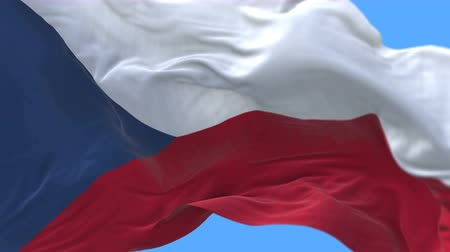 Československo : 4k Close up of Czech Republic flag waving in wind.A fully digital rendering,The animation loops at 20 seconds.flag 3D animation with alpha channel included.
