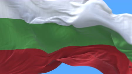 união : 4k Close up of Bulgaria flag waving in wind.A fully digital rendering,The animation loops at 20 seconds.flag 3D animation with alpha channel included.