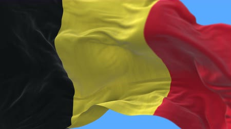 belga : 4k Close up of Belgium flag waving in wind.A fully digital rendering,The animation loops at 20 seconds.flag 3D animation with alpha channel included.