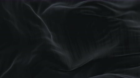 yumuşaklık : 4k Wave black satin fabric Background.Silk cloth fluttering in the wind.tenderness and airiness. 3D digital animation of a waving cloth. Stok Video
