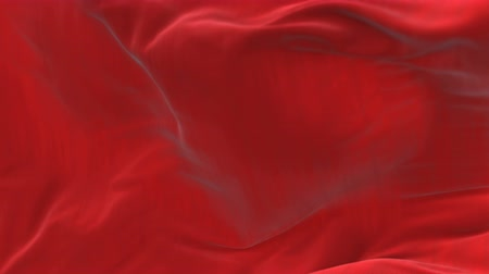 atlaszfényû : 4k Wave red satin fabric Background.Silk cloth fluttering in the wind.tenderness and airiness.3D digital animation of a waving cloth. Stock mozgókép