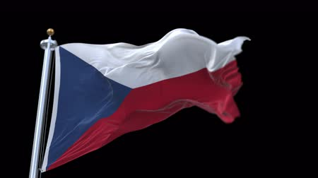 cserepezés : 4k seamless Czech Republic flag waving in wind.A fully digital rendering,The animation loops at 20 seconds.flag 3D animation with alpha channel included.