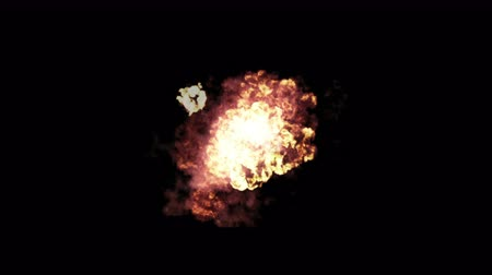 armaments : 4k Hot fire burning background,Abstract powerful explosion particle smoke power firework energy.